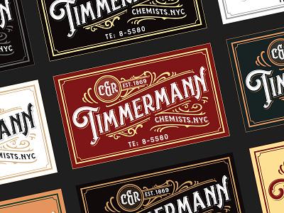 C&R Timmermann vector details ephemera label vintage classic typogaphy typeface font lettering handlettering