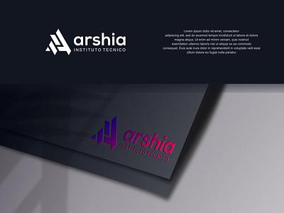 Arsha Logo Tecno mockup logos ux illustration letter f design branding vector psd logo letter a