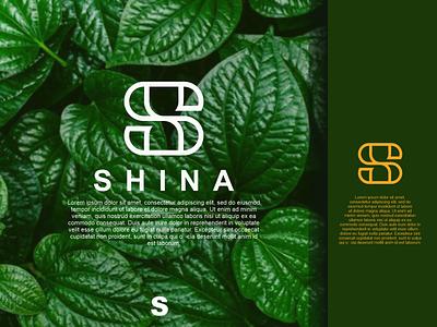 Shina Logo brand logos letter s ux illustration letter f design branding vector psd logo