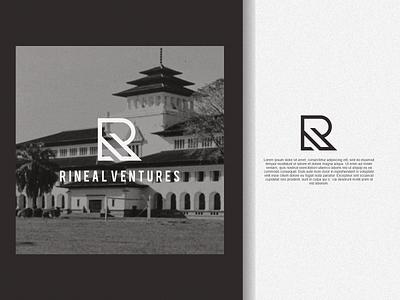 Rineal Ventures Logo lettering ux illustration letter f letter a design branding vector psd logo rineal ventures logo