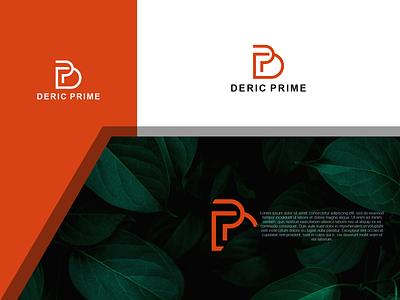 Deric Prime Logo lettering logo lettering ux illustration letter f letter a design branding vector psd logo deric prime logo