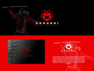 Samurai Real Estate Logo logos real estate logo samurai real estate logo ux illustration letter f letter a design branding vector psd logo