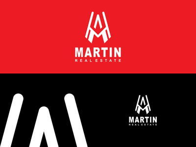MARTIN LOGO graphic design overdesignnn logoawesome logobadge finance initial identity bulding brand logotipo logotypes logos logo