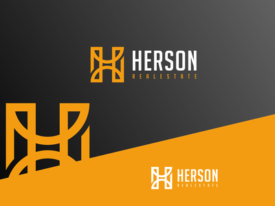 HERSON REALESTATE logoawesome logogram-id logobadge finance initial identity bulding brand logotipo logotypes logos logo