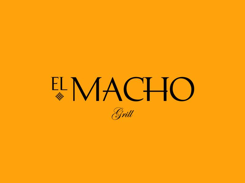 El Macho Grill restaurant branding branding foodie yellow pattern star restaurant meat food grill macho