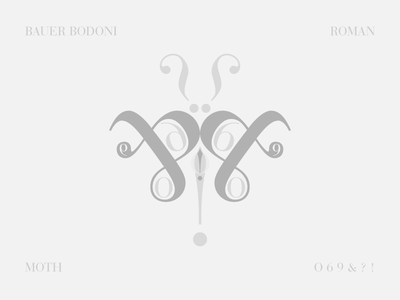 Bauer Bodoni Moth butterfly insect typography moth bodoni bauer bodoni