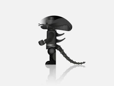 Lego Xenomorph character black toy lego movie alien xenomorph