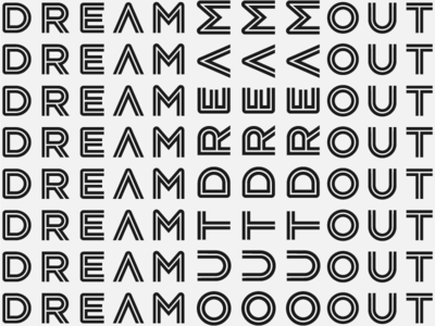Outdream logo pattern system future music logotype patter logo