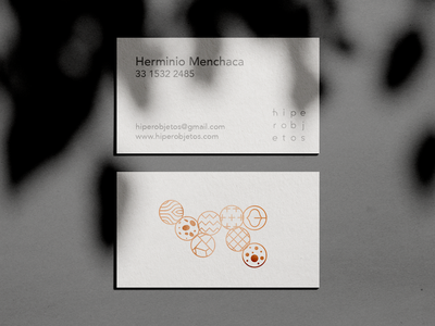 hiperobjetos business card mexico japan icon clean shadow branding busines card