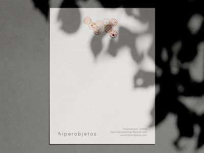 hiperobjetos letterhead minimal clean shadow craft mexico japan branding letterhead