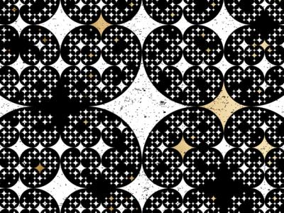 Stars pattern geometry gold foil rough black and white pattern stars