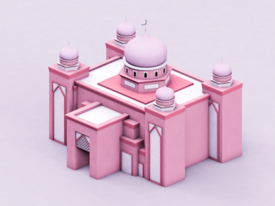 Pink Mosque in UMS