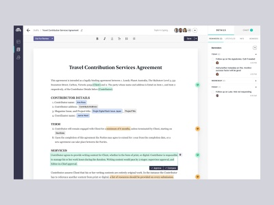 Contracts editor page • Lonely Planet Rapid Contracts css product-design contracts