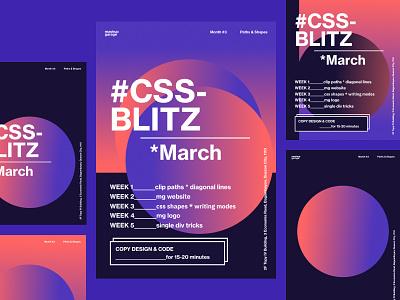 CSS Blitz • March pt1 css-blitz design css posters gradients