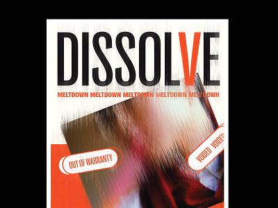 Dissolve - 溶解 - 2 poster type chinese design typography
