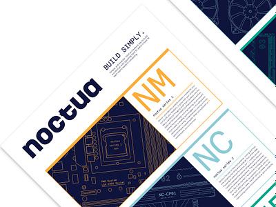Noctua - Part Series Poster flat typography logo design illustration
