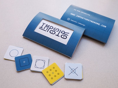 Impostor - Card and Pamphlet logo iconset icon flat design typography type blue impostor card print branding