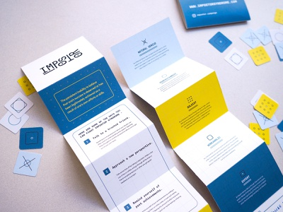 Impostor - Card and Pamphlet print iconset card flat blue design branding typography logo