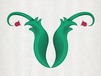 "V is for VULVA ""36 Days Of Type"" Custom Typography"