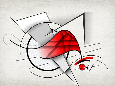 'Beteja e Revolucionit' (Battle of the Revolution) geometricabstraction art graphicdesign digitalgraphic suprematism artwork illustration avantgarde cubofuturism