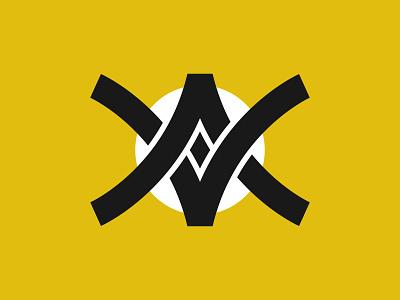 MONOGRAM LETTER A + V branding logo graphic design