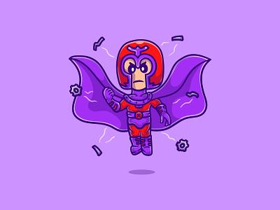 Magneto comic accurate illustration marvel cinematic universe erik lehnsherr mascot design character marvel mcu mutants illustration cartoon brotherhood of mutants mutant xmen x-men magneto