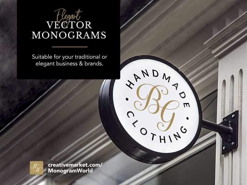 Monograms for your business project typography monogram custom letters editable monogram individual initials crest floral traditional elegant calligraphy monogram calligraphy script monogram