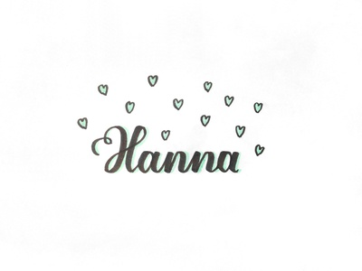 Hanna love baby girl hanna hand lettering birth newlife