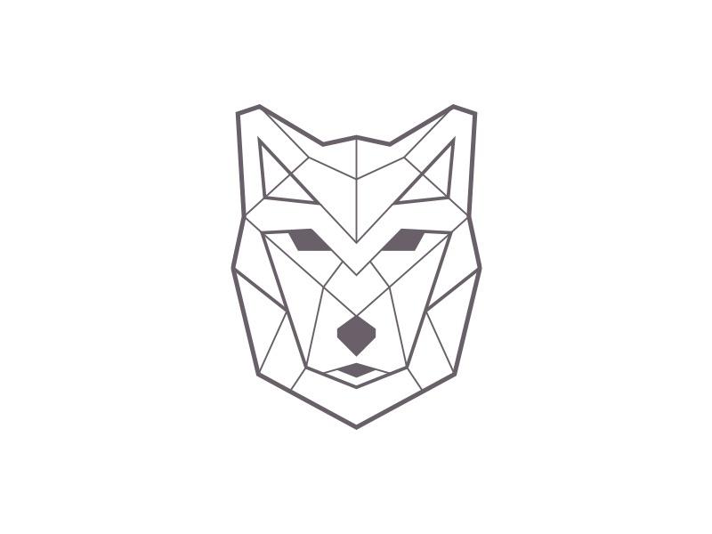 Geometric wolf 800x600