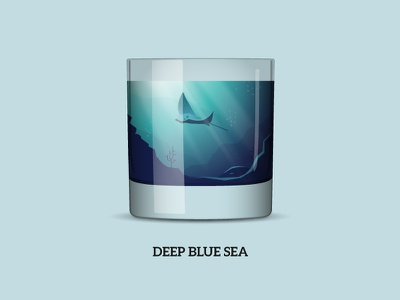 Nature Cocktail 3: «Deep Blue Sea» drink nautic under water dive ray sea sip longdrink shot cocktail nature