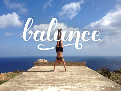 Balance type hand lettering sea concrete rough platform italy sardegna handstand balance