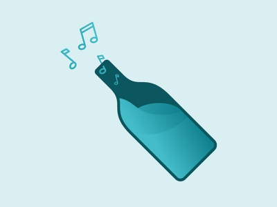 Mixed by FLOschn tunes mixed music bottle icon