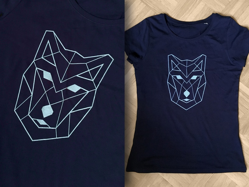 Geometric wolf (t-shirt) fairwear organic spreadless print t-shirt wolf geometric