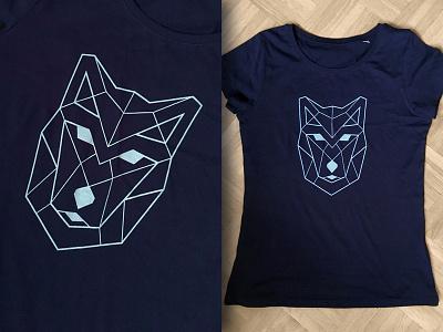 Geometric wolf (t-shirt) fairwear organic spreadless print t-shirt wolf geometric