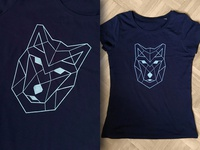Geometric wolf (t-shirt)