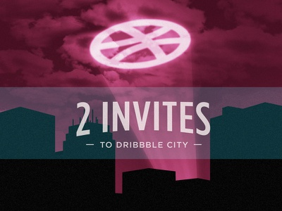 2 invites night skyline city gotttham contest invite