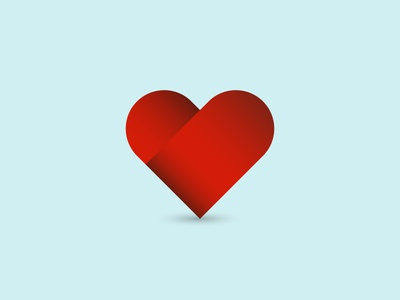 Love warped heart gradients light icon love