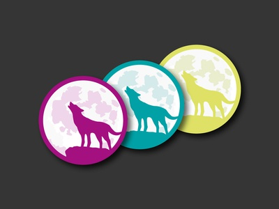 """""""Wolfmade"""" Stickers wolf branding logo selfmade cloth sewing diy wolfmade stickers"""