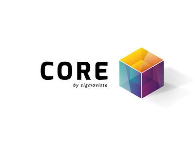 CORE software inside cube logo core