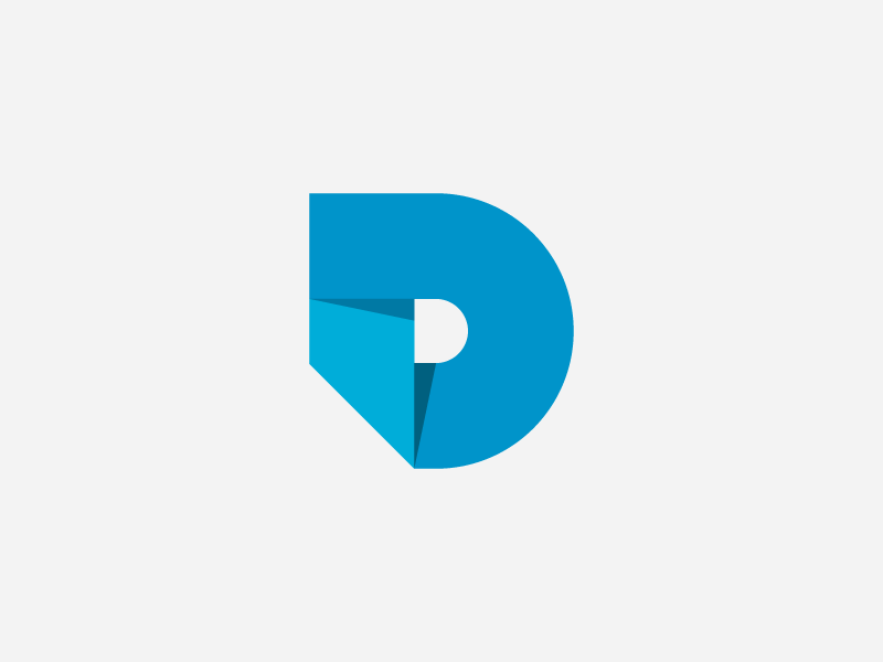 D Logo Simple Design With Strong Letter