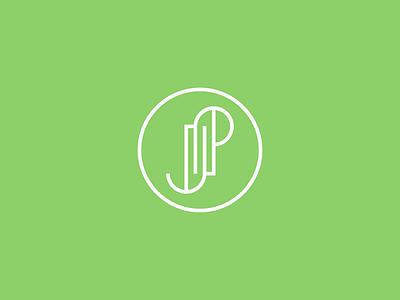 JP monogram letter monogram design logo