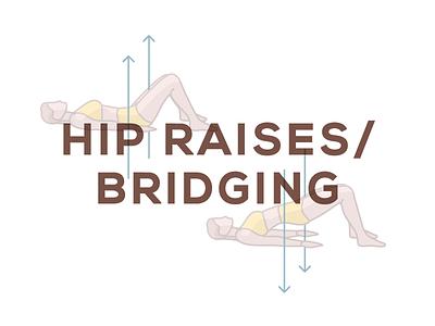 Hip Raises / Bridging  hamstring knee pain illustration
