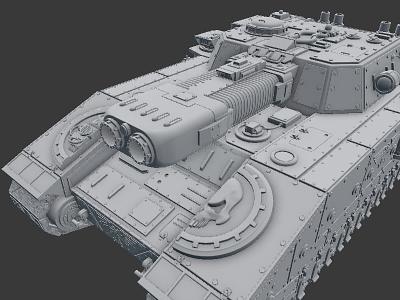 Shtormblade tank warhammer 40k blender