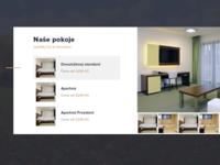 Lesni Hotel – Room list