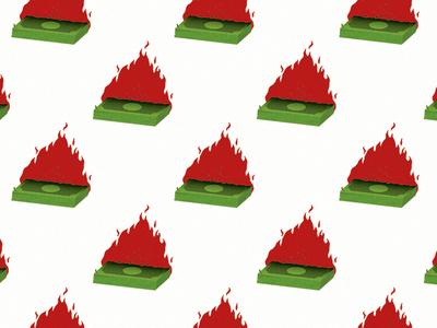 Fuck Society 💸 cash pattern grunge punk anarchy fuck-society problems bills flames burning $