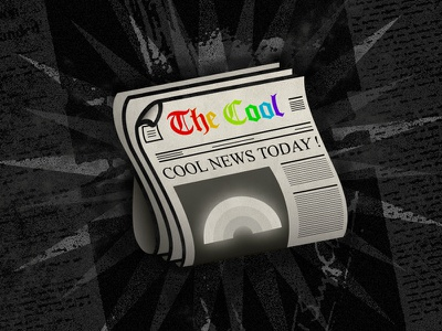 Imagine, cool news ! 📜 happy dark journaux journal dream illustration illustrator typography rainbow newspaper news cool
