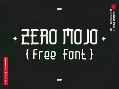 Zero Mojo (free font) free font dribbble words japanese typography typeface type font