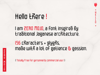 Zero Mojo text (free font)