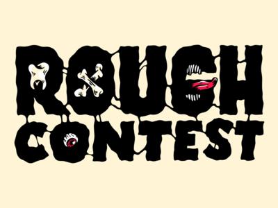 Rough Contest logo black grunge ink bones rock punk rough logotype logo