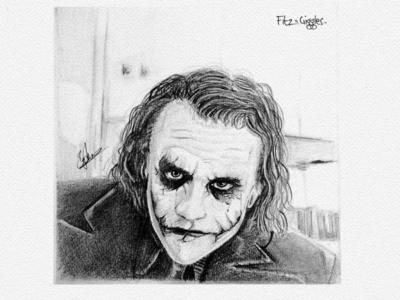 Joker pencil sketch